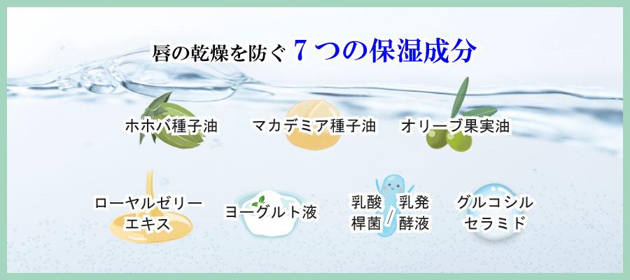 唇の乾燥を防ぐ7つの保湿成分